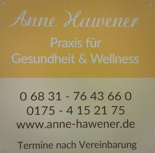 Werbeschild Anne Hawener